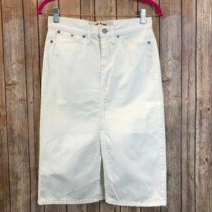 GAP White Denim Skirt Size 1